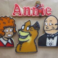 Little Orphan Annie Made for a cast party for a church play. the customer wanted me to add eyes to the cookies. It didn't look like the old cartoon, but...