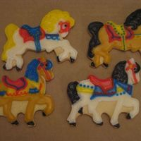 Carousel Horses done for a carousel cake. don't have the picture for that yet. toba's glace over butter cookies