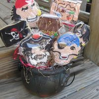 Pirate Cookie Bouquet Another centerpiece from the Bar Mitzvah. Sorry the pictures are so bad. I was running so late, I was taking pictures as my son's...