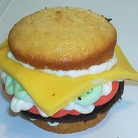 Cheeseburger Cupcake My 3-year-old wanted to make these for father's day, and he did a great job! Thanks to Betty Crocker and fellow CC'ers for the...