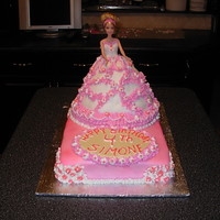 Princess Cake I made this for a friend's daughter. The doll in it was a real doll, one that her mother saved from when she got this cake as a child...