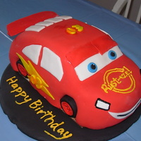 Lightening Mcqueen Car Cake This was for my nephew's 3rd birthday party. He loves Lightening McQueen so much, that when asked what he wanted for his birthday, he...