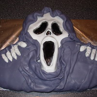 Scream Cake Made this completely with fondant which was covering carved cake!