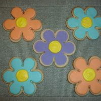 Flower Power Cookies   Practicing decorating with MMF. I rolled this too thick.