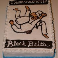 Martial Arts Cake This is (yet another) cake for a black belt ceremony at my martial arts studio. One of the students testing selected this image because she...