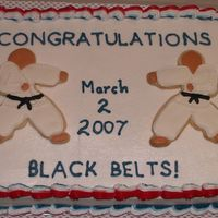 Kids Black Belt Cake This is the first of two cakes I made for a belt ceremony at my martial arts studio. (I'll upload the other as soon as I have a...