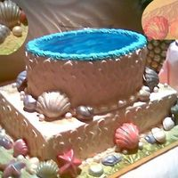 Seashell Cake For Retirement Party At Beach This two-tier cake was made for a retirement party at the beach. Icing is all-butter buttercream. Shells are molded chocolate, dry-dusted...