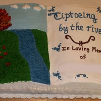Memorial Service Cake This cake was made in the Wilton 2 mix book pan (with 2 1/2 doctored mixes). The grass was done with Tip 233, and the leaves were done with...