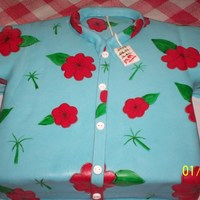Hawaiin Shirt This was made for a 50th birthday party. The gentleman loves Hawaiin shirts but will only buy them on clearance (see the price tag)....