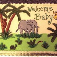 Jungle Baby Shower Latest Baby shower cake. First time w/ this theme. First time doing FBCT, had a small amount of difficulty, but not bad. Elephant and...