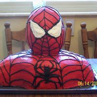 Spiderman Bust Cake Spiderman cake. All cake head, used wondermold pan. You get a lot of cake with this. My kids loved it!