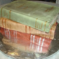 Stack Of Old Books This was a cake for our local library. A blast to make!