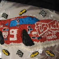 Nascar B Day Cake I made this cake for a birthday. it was very different for me to make because I really dont know much about nascar. I think it turned out...
