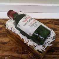Vapiano Wine Bottle Cake I made this cake as a promotion at my job I think it turned out pretty well. Let me know what you think!!!