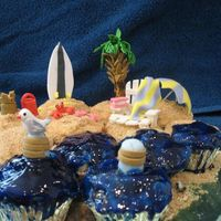 A Day At The Beach I made these for a cupcake contest let me know what you think!!!