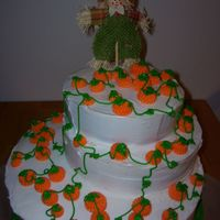 Pumkin Patch This cake was for a family reunion. It was make with Pumkin cake! This is my third cake so I think I took a little too much on with the...