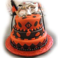Masquerade Birthday Party Cake  Second time decorating with fondant and second time stacking a cake!Bottom 12â, middle 10â, and top 8â all...