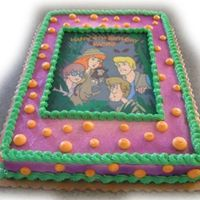 Scooby Doo 1/2 sheet with buttercream & edible image