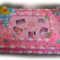 Baby Shower 1/2 sheet with buttercream & edible image