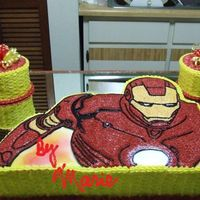 Ironman I made this cake for Nelly413's nephew. It was an overseas order.