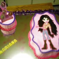 Bratz Birthday The little girl chose her favorite Bratz from the invitation.