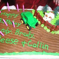 John Deere Birthday My nephews, son, and husband all share birthdays within 5 days of each other so this was the combined birthday cake. This is adapted from...