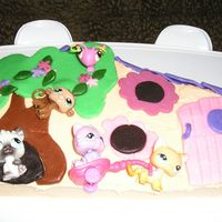 Littlest Pet Shop Clubhouse I wanted to stand this up for a 3-D cake but didn't make the cake thick & dense enough. It's supposed to look similar the...