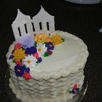 Wilton Ii Final  I know you have seen millions of these, but thought I would share mine. The cake is Milky Way swirl with caramel filling. RI flowers,...