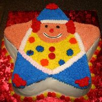 Clown Cake The coloring didn't turn out very well when I took the picture. It looked much better in person!! I got the directions for this cake...