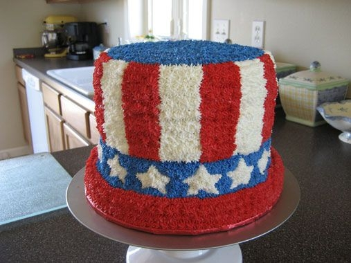 4Th Of July Top Hat I attempted to make a top hat. It is a butter cake with alternating layers of raspberry and blueberry filling. (Thought I would carry the...