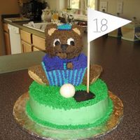 Grandpa's Birthday Cake I make my grandparent's their birthday cakes every year. My Grandpa is an avid golfer so I decided to do that theme this time. The...