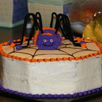 Halloween Spider Cake  My inspiration for this cake came from thecakemaven - thanks for the great idea!! Once again, mine doesn't look nearly as nice but my...