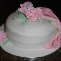 My First Fondant Cake--Fondant And Gumpaste Class Now that I see the picture I can see all the flaws, but I'm still so proud of myself. Not sure if I am crazy about fondant, but I'...
