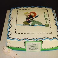 Kim Possible Birthda Cake Kim Possible birthday cake. Edible Image on buttercream w/ fondant accents. Rufus the naked mole rat is sculpted out of fondant.