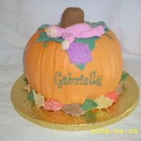 Fall Themed Baby Shower Buttercream with fondant accents.
