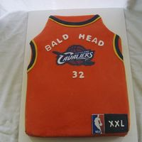 Cleveland Cavaliers Jersey My take on a BB Jersey. Covered in Fondant w/ edible image.