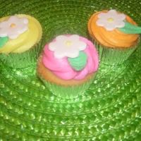 Cupcakes Cupcakes done for a church event. BC w/ Fondant Flowers. (Lemon, Raspberry & Orange BC)TFL
