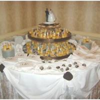 Dessert Bar cake balls, mini pies, shots of creme brulee for wedding