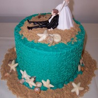 Jim chocolate WASC. Buttercream icing. White chocolate seashells.