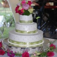 Elizabeth And Ben My first wedding cake ever. WASC w/ almond BC.