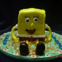 3D Spongebob This was for a co-workers 17th b-day. He is covered and surrounded by MMF and toasted cake crumbs for sand. I thought this was and...