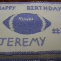 Purple Football   All bc icing. Transfered football on with piping gel