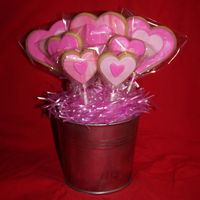 Valentine Cookie Bouquet My very first cookie bouquet! Also the first time using MMF on NFSC. Hopefully it won't fall apart!