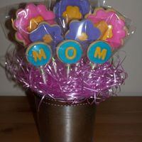 Mother's Day Cookie Bouquet I made 2 identical cookie bouquets, one for my Mom & one for MIL for Mother's Day!