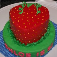 Strawberry Individual cake made to go along with Strawberry Shortcake theme for 3 yo girl. Thank you to all of the other strawberry cake pics in the...