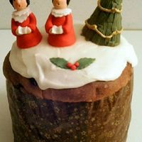 Choir Boys Covered panettone in RI and fondant.