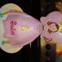 My Fairy Princess This is a chocolate cake filled and iced in italian meringe buttercream and covered in satin ice. The top is a cookie that I hand cut and...