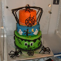 Halloween I didn't fuss with getting smooth layers but put some effort into Halloween tastes. The bottom 10 in layer was a chocolate/chocolate...