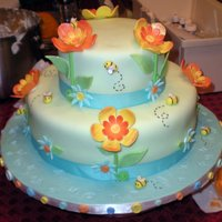 Babyshower This cake was for my cousin's baby shower. The theme was winnie the pooh. I didn't have pooh onthe top yet in this picure. I...