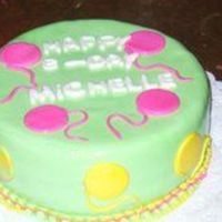 Chocolate Cake A simple chocolate cake, cover and decorated with fondant. Ballons design.